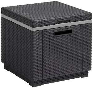 Allibert by Keter Rattan Ice Cooler Bucket Box Outdoor Garden Furniture - Graphite  £29.99 - Amazon