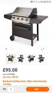 4 Burner Gas BBQ at B&Q for £95 reduced from £175