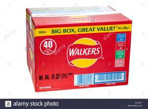 Walkers crisps 40 packs for £3.99 @ FarmFoods