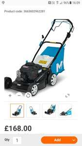Mac Allister 125 CC 460MM Petrol Lawnmower for sale at B&Q for £168