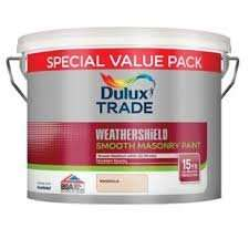 Dulux Weathershield Trade Masonary Paint 3 for 2 £23.99 Magnola or White @ Wickes