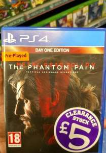 Metal Gear Solid V: The Phantom Pain PS4 (Preowned) £5 Instore @ Smyths (Bloodborne £10 - Preowned)