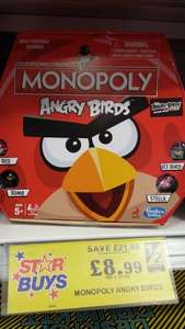 Monopoly Angry Birds £8.99 instore, Home Bargains, Tindale Crescent, Bishop Auckland