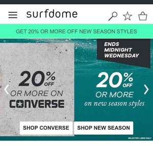 20% - 70% off all Converse at Surfdome ie Converse All Star Ox Shoes £35.99 Del