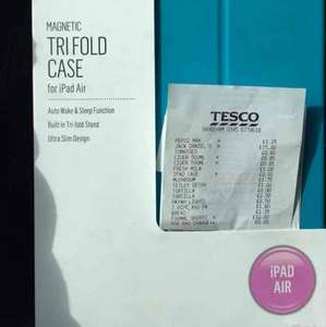 IPad Air Magnetic Trifold Case scanning at £2 @ Tesco - shoreham in West Sussex