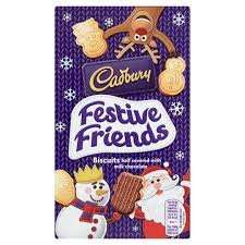 Cadbury festive friends chocolate covered biscuits 150g 49p @  home bargins