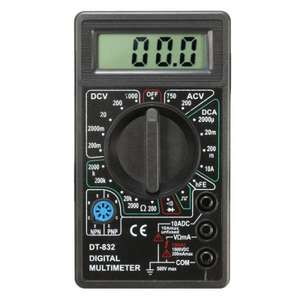 DT832 Digital LCD Multimeter Ohm Voltage Ampere Meter Buzzer Function with Test Probe r £2.34 Bangood with coupon