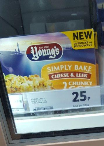 Tesco Simply Bake Cheese and Leek Chunky Cod 25p instore
