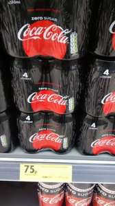 Coke Zero 330ml cans - 4 pack - 75p @ Morrisons - Instore