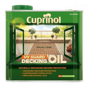 Cuprinol Decking Oil 2.5l £12.00 @ B&M - Shrewsbury Store