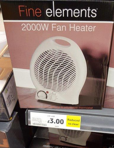 Compact 2000w fan heater. £3 at Gillingham Tesco