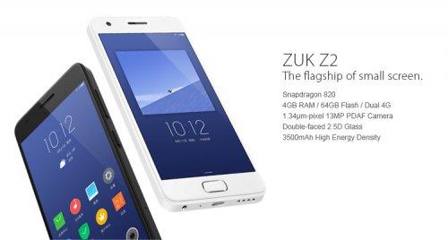 Lenovo ZUK Z2 5.0 inch 4GB RAM 64GB ROM Snapdragon 820 2.15GHz Quad-core 4G Smartphone, for £131.33 (using Code: phone), at BangGood