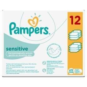 Pampers Sensitive Unscented Baby Wipes 12×56 = 672 Wipes £7 @ ASDA In-store & Online