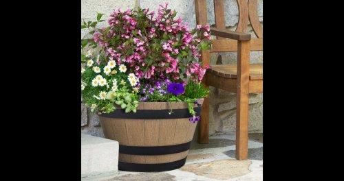 Whiskey Barrell - high density resin woodgrain effect plant pot £10 @ B&Q More (C&C)