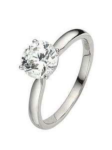 Love DIAMOND 18 Carat White Gold 1 Carat Certified Diamond Solitaire Ring £2339.20 / £2343.19 delivered with code @ Very