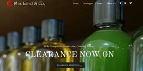 Mrs Lord & Co Premium E Liquid - Clearance Sale