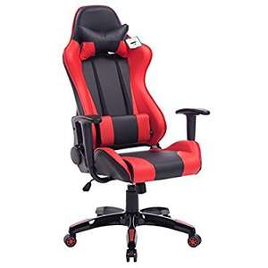 CTF PRO Racing Gaming High Back PU Leather Metal Frame Swivel Office Chair with Height Adjustable Armrests (Red)  £106.98 delivered  @ Amazon Daal's Home