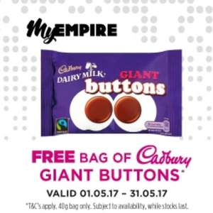 Free Bag of Cadbury Giant Buttons @ Empire Cinemas