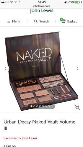 Naked vault volume 3 BRAND NEW £245.00 @ John Lewis