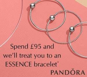 spend £95 on pandora and get free pandora bracelet @ John Greed