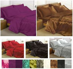 6 piece satin sheet bed set in various colours £16.15 for double, £17.95 for King and £21.45 for super king size delivered @ eBay sold by global_megastore