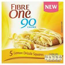 Fibre One 90 Calorie 5 Lemon Drizzle Squares 2 for £1 @ Heron Foods