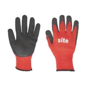 Site Toughgrip builders gloves (or) Dextrogrip Nitrile foam-coated gloves (RED / BLACK) Large - was £3.99 now £1.99 @ Screwfix (C&C)