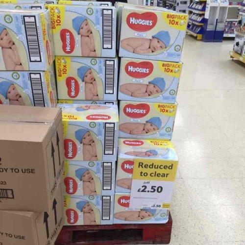 Huggies Wipes Box of 10 £2.50 instore at Tesco