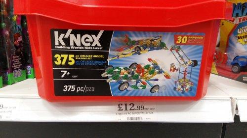 K'Nex 375 piece set - £12.99 instore @ Home Bargains
