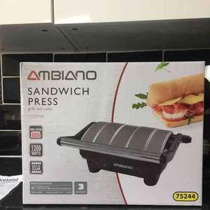 Ambiano Sandwich Press - £5.99 instore @ ALDI