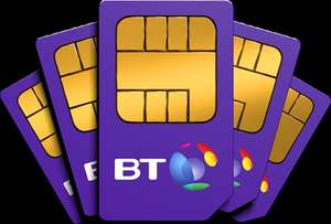 BT Mobile Sim Only: unlimited txts, 1000 mins, 4GB data £10 p/m £100 (After £50 amazon voucher poss £5.83 /month) (BT customers only)