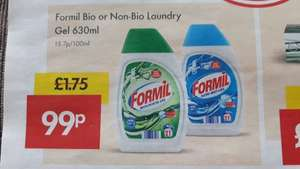 Formil Bio or Non-Bio Laundry Gel 630ml (21 washes) 99p, 6-7th May @ Lidl