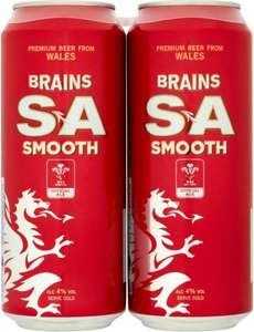 Brains SA Smooth £2.69 for 4x 440ml cans in Home Bargains