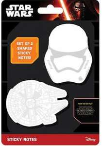 Star Wars post it notes - 19p - great party bag filler! Instore @ Home Bargains