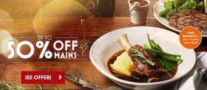 50% off Main Meals Monday - Wednesdays at Bella Italia