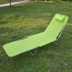 Sun bed / lounger in light green with pillow now £20.99 delivered or buy 2 for £39.88 delivered @ eBay sold by 2011homcom