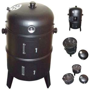 3 layer steel BBQ and Smoker £26 delivered @ eBay / sold by Tree and Grass Spares