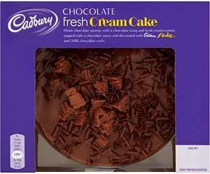 Cadbury Chocolate Fresh Cream Cake 430G £2.00 was £3.50 @ Tesco From Wednesday