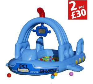 Chad Valley Boat Ball Pit and Paddling Pool (was £20.99) Now £10.49 /   Fish Shade Baby Pool £14.99 at Argos