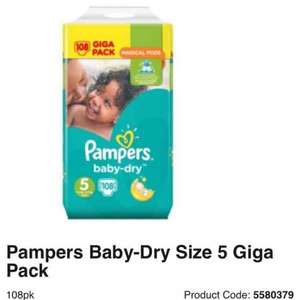 pampers nappies all sizes GIGA PACK £10 - Asda