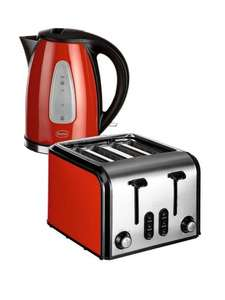 Swan  Fastboil Kettle and 4-Slice Toaster Pack now £34.99 @ Very