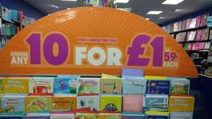 10 greetings cards for £1.00 at Card Factory