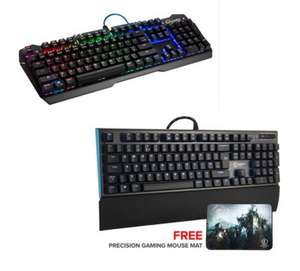 Element Gaming Beryllium Mechanical (Red switch) + Free Mouse Mat £39.99 /  Carbon Mechanical RGB Keyboard (Brown switch) £51.99 @ Ebuyer (Free Del)