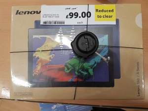 Lenovo Tab 2 A10-70F (blue) £99 reduced to clear at Tesco Extra, Danestone, Aberdeen