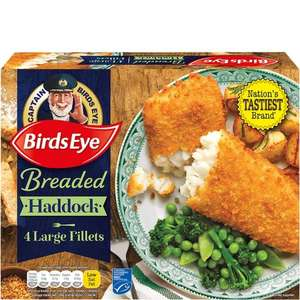 Birds Eye Breaded Haddock (54%) Fillets (4 = 480g) was £4.00 now 3 Packs for £6.00 @ Tesco