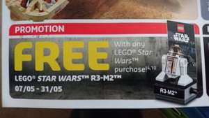Free Lego Star Wars R3-M2 minifig with any Star Wars purchase @ Lego