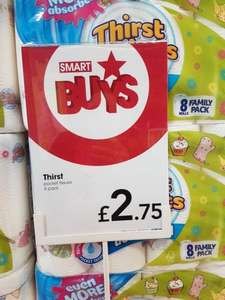 Thirst Pockets 8 kitchen rolls for £2.75 instore at Wilkinsons