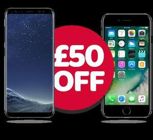 £50 off  iPhone 7 - £549 / Samsung Galaxy S8 - £639 @ Unshackled