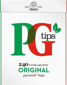 PG tips 160s + 50% Free Pyramid Teabags so (240 = 696g) was £4.00 now £3.00 for 7 days @ Iceland