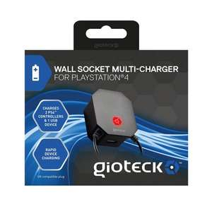 Gioteck Wall Socket Multicharger (PS4/Xbox One) £4.99 Delivered @ GAME/Amazon